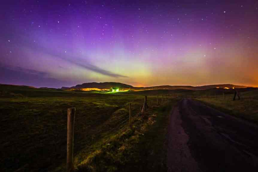 Northern Lights in Ireland - Malin Head - Michael Gill for Tourism Ireland