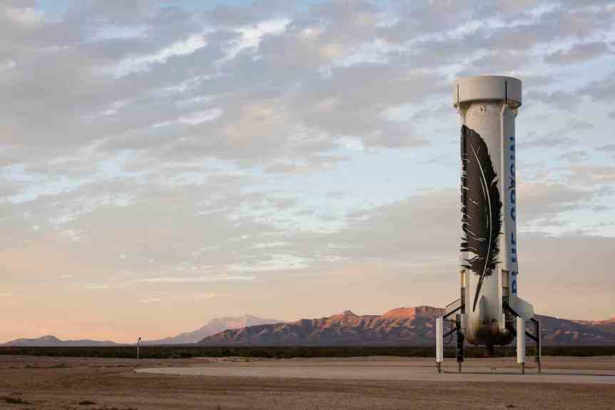 Blue Origin Company Profile - New Shepard on Pad