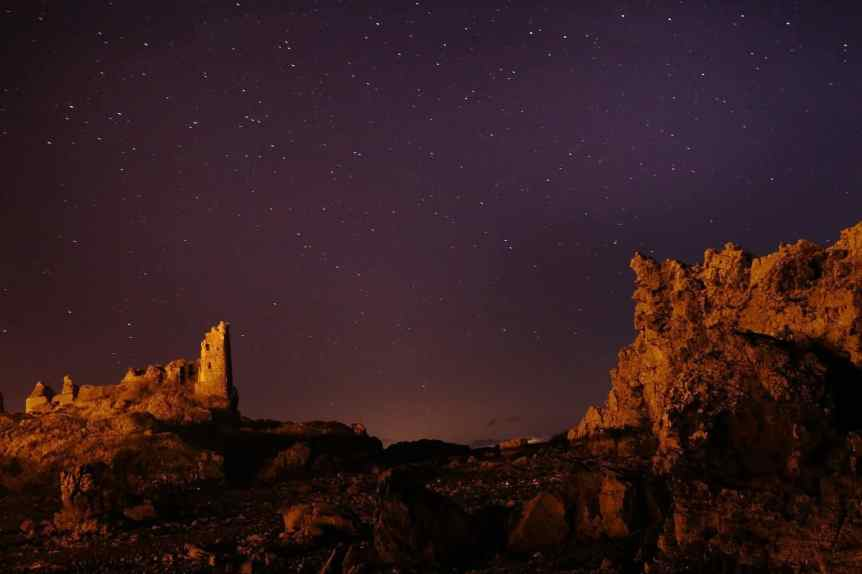 Stargazing in Scotland - Dunure Castle - grayeme via Flickr