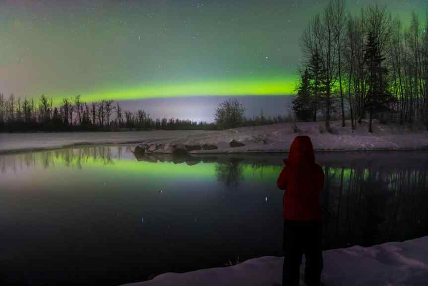 Aurora Photography - Valerie at River