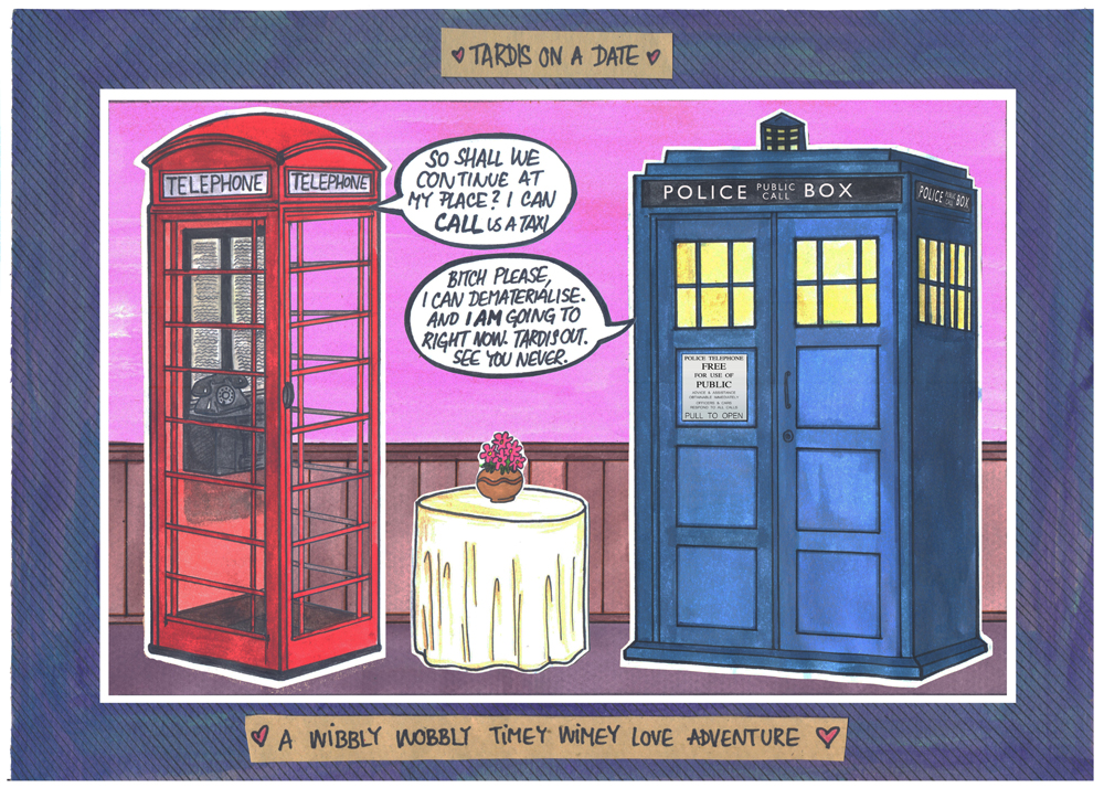 """Featured image for """"Godka's Stories: TARDIS ON A DATE #1"""""""