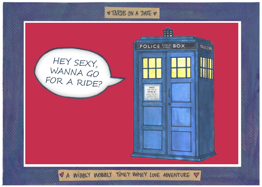 """Featured image for """"TARDIS' got a date! A wibbly wobbly timey wimey love adventure [COMIC]"""""""
