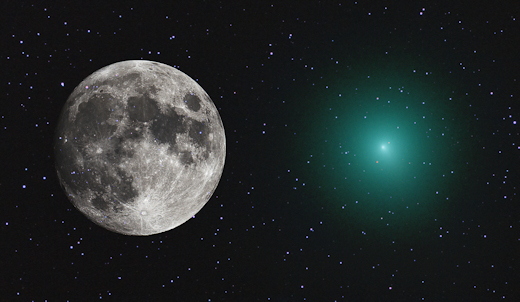 Moon Wasnt Even Full And It Wasnt >> Approaching Comet As Big As The Full Moon Notestoponder