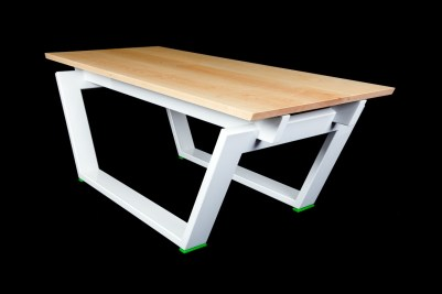 Wood and Metal Table Designed by Scott Cormier -SPLICE