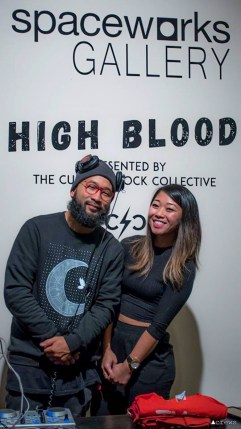 Silong Chhun and Clarissa Gines enjoyed opening night of High Blood. Photo by Kris Crews.