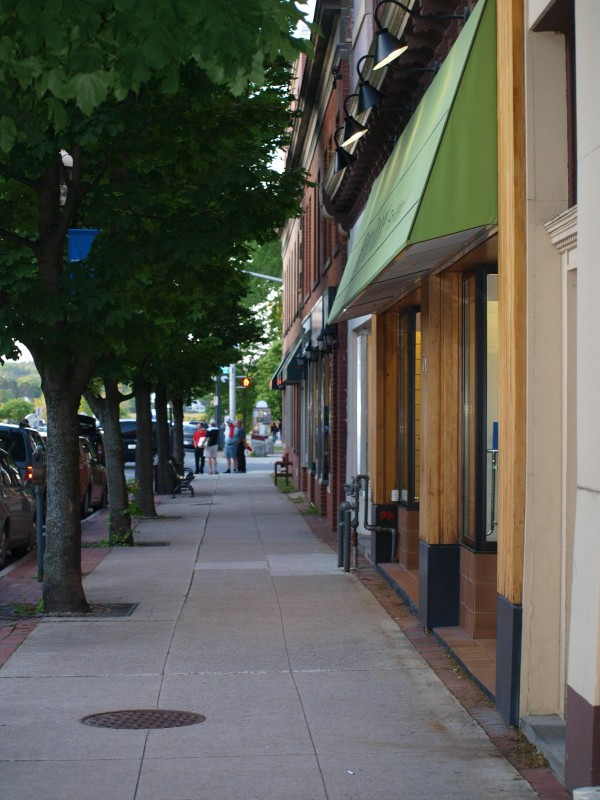Shops along York Street in downtown Fredericton.