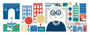 Google doodle for Jane Jacobs 100th birthday.
