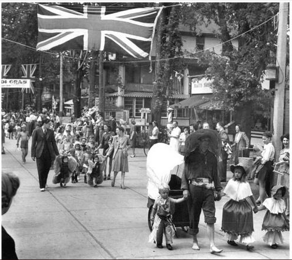 A 1953 parade on Manitou Road, from A Toronto Album 2: More Glimpses of the City That Was
