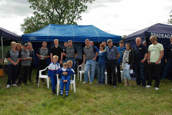 Spadeadam Motor Club Members celebrating the clubs 50th anniversary with a BBQ and autotest.