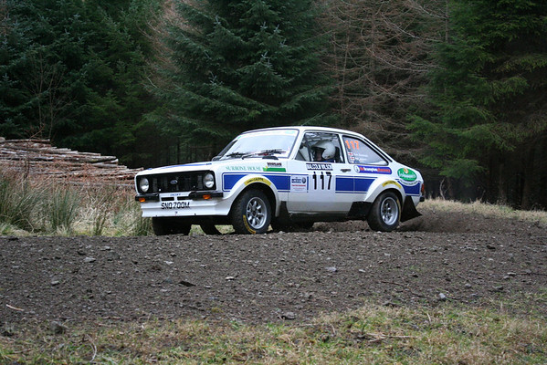 Phil & Caroline Jobson at the Malcolm Wilson Rally 2011