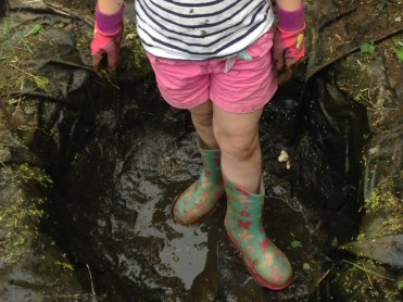 wellies and kid