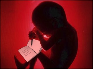 Brayan De Los Reyes writes in his journal, in which he made 147 entries while still a fetus in his mothers womb.