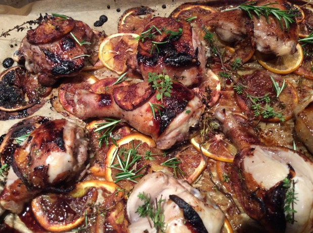 January in the Kitchen – Quick Roast Chicken with Citrus, Sumac, and Pomegranate