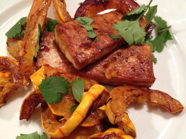 Spicy Tofu with Delicata Squash