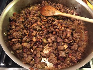 Bacon and ground beef