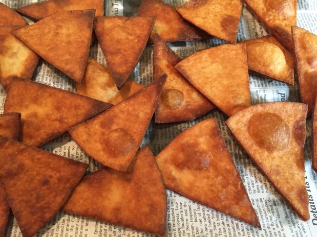 February in the Kitchen – Crispy, Crunchy Flour Tortilla Chips
