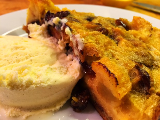 February in the Kitchen – Bread and Butter Panettone Pudding Tart