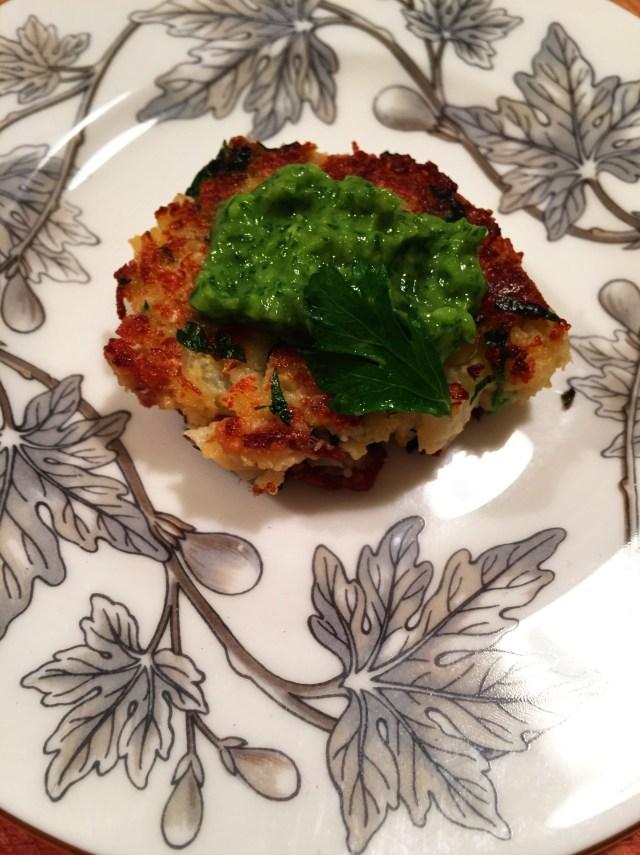 Cauliflower Croquettes with Avocado Sauce