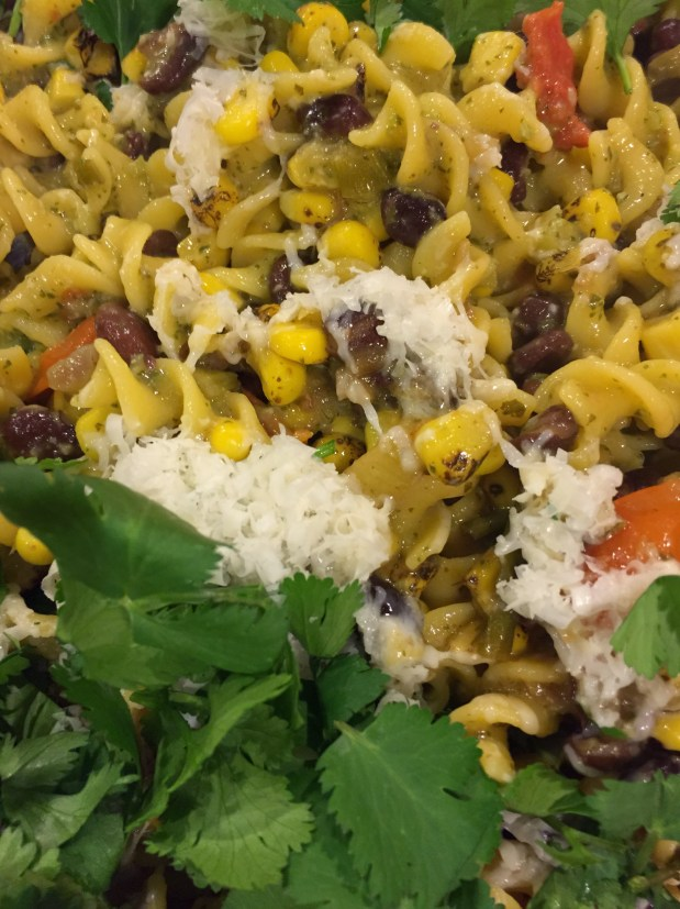 March in My Kitchen – Corn Pasta with Southwestern Leanings