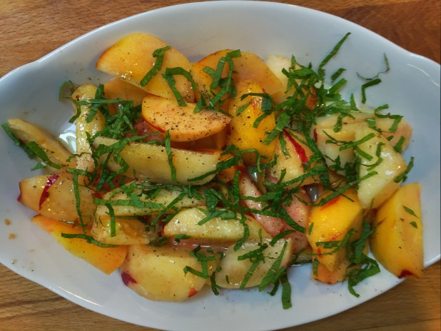 May in the Kitchen – Green Peach Salad