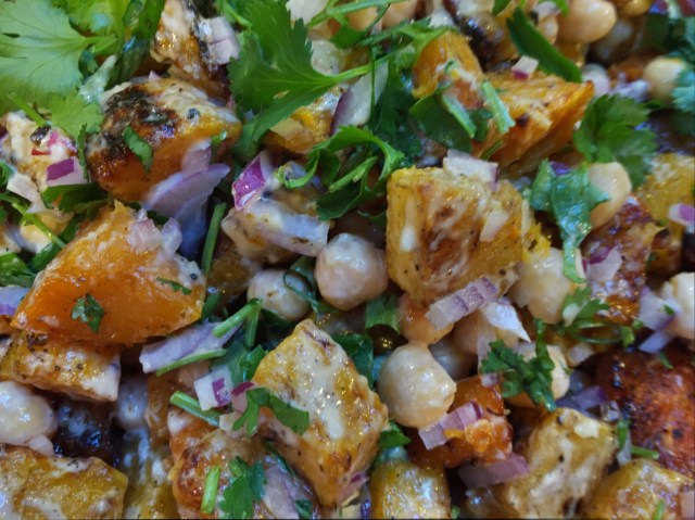 Warm Squash and Chickpea Salad