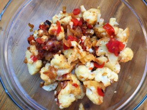 Sauteed cauliflower and red pepper