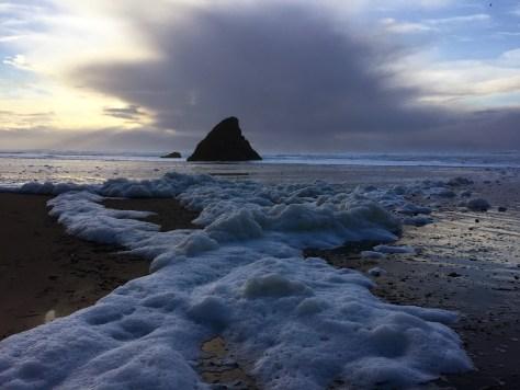 Sea foam Seaside beach