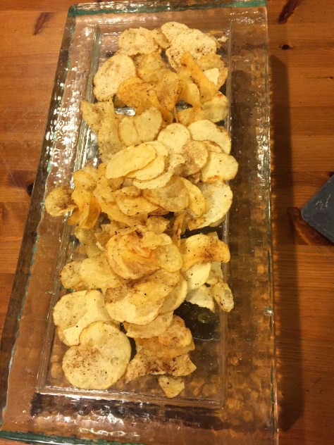Roast Garlic Potato Chips