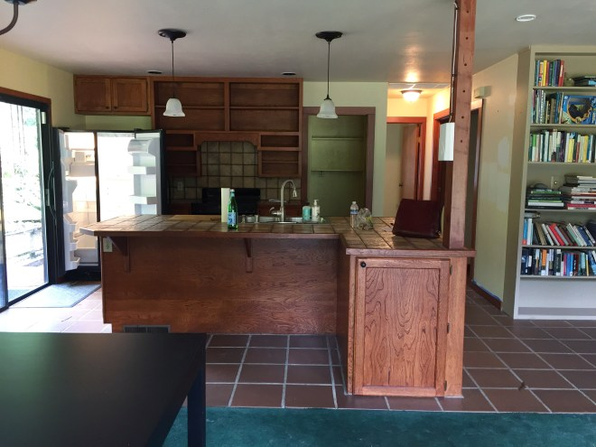 kitchen Island, view from the dining area