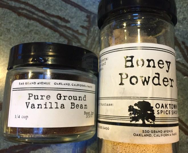 Ground Vanilla Beans and Honey Powder