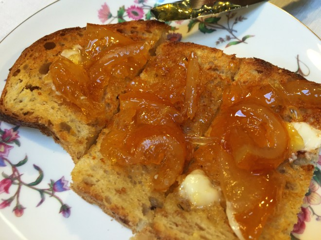 Meyer Lemon Marmalade with Irish Butter on Toast