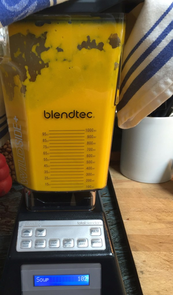 Cover your blender with a tea towel