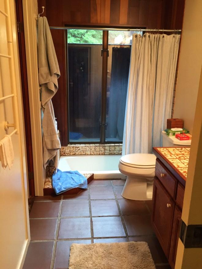 "Fort Bragg ""old"" Bathroom with Sunken Tub"