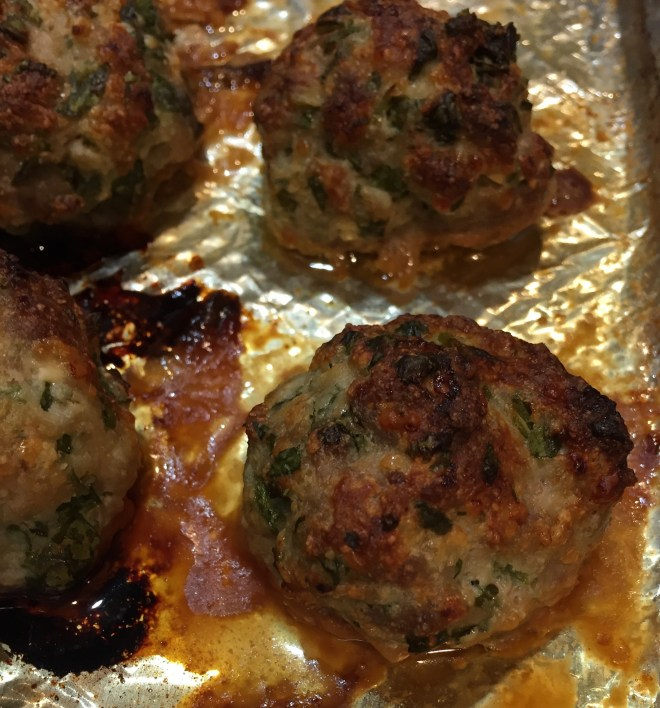 Finished Turkey and Ricotta Meatballs