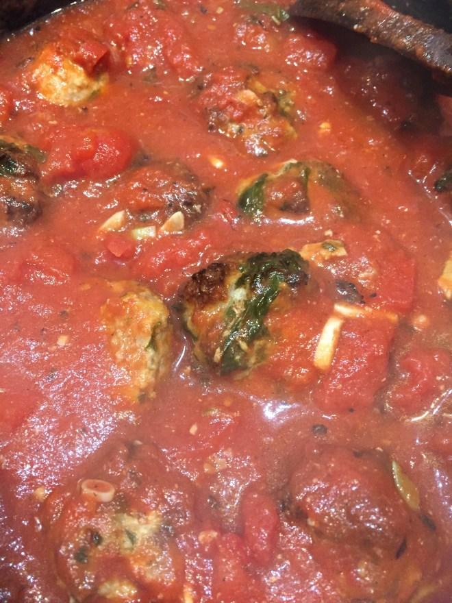 Tomato Sauce with Turkey and Ricotta Meatballs