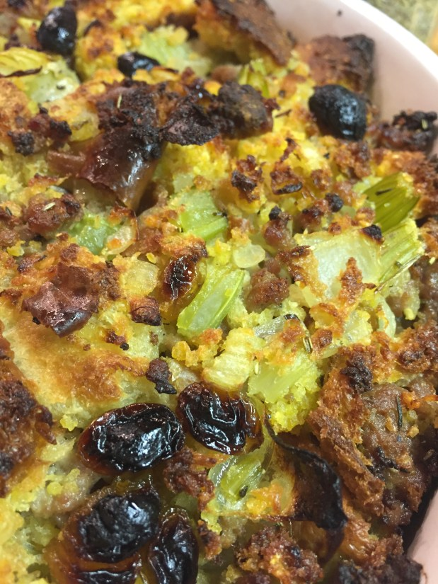 November – Veggie Sausage Dressing with Raisins