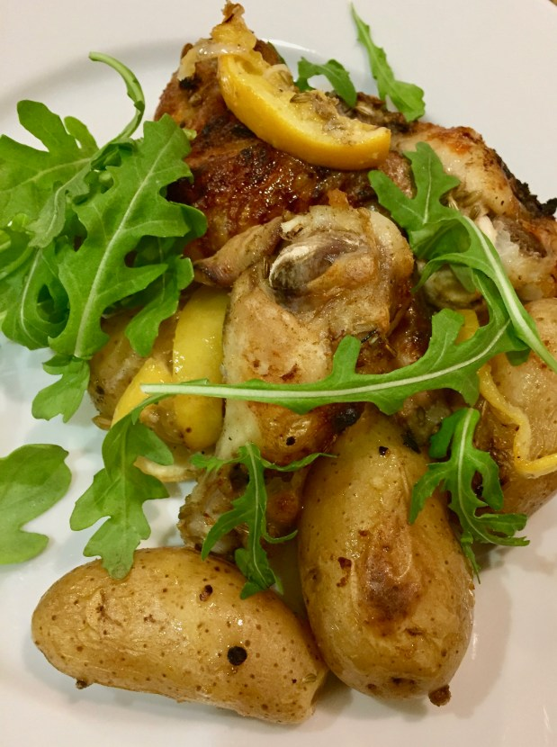 June – Lemony Chicken Wings with Potatoes