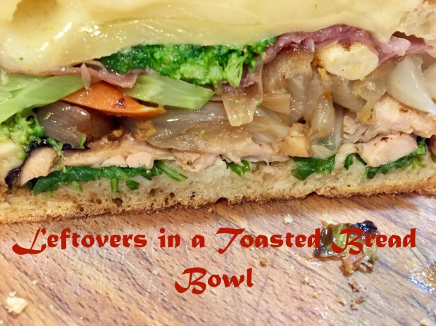 December – Leftovers in a Toasted Bread Bowl