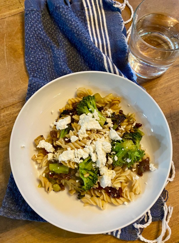 April – Blistered Broccoli with Fusilli, Sicilian Style