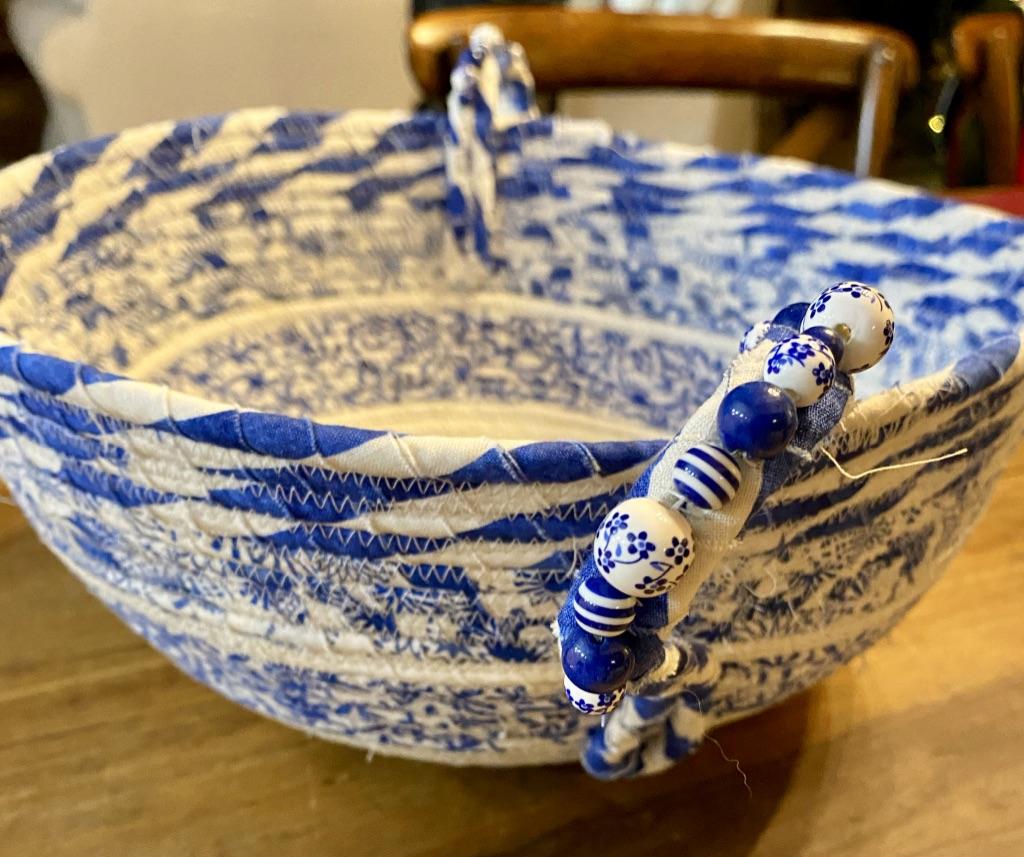 Blue Woven Bowl