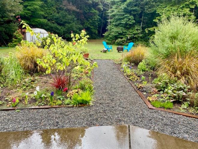 Back flower beds