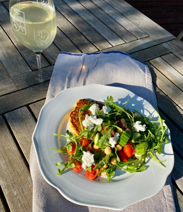 June – Cauliflower Cutlets with Arugula Salad