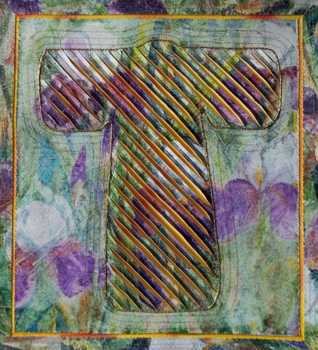 watercolor assemblage of a kimono