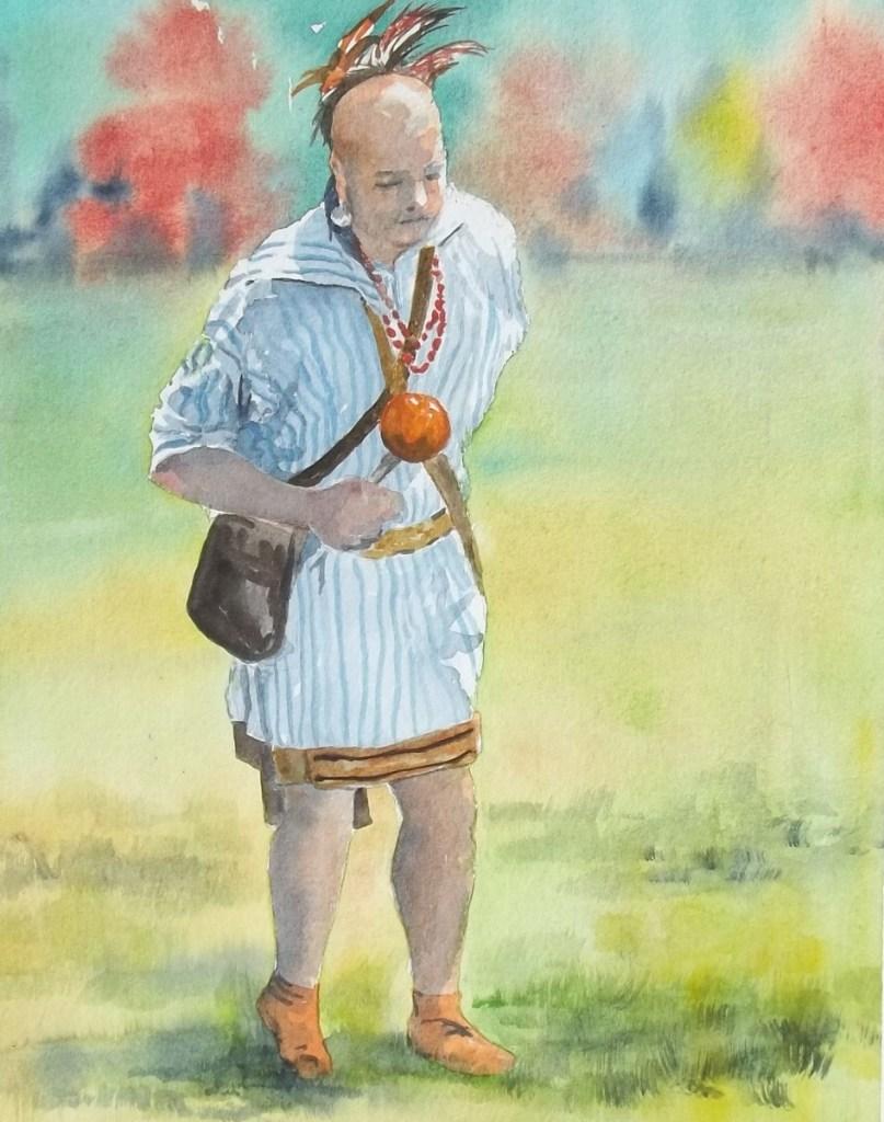 Male Cherokee dancer