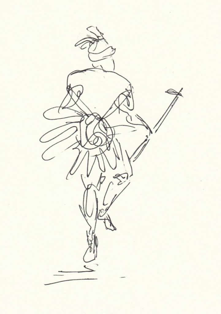 drawing of native dancer