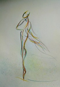 drawing of female dancer
