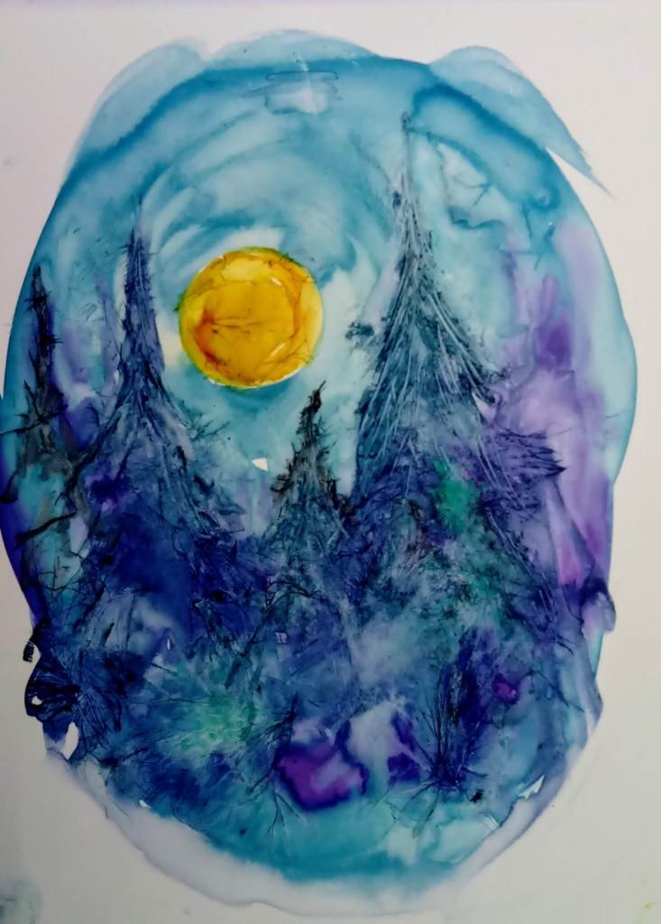 a winter moonrise