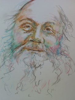Close-up of old man's face