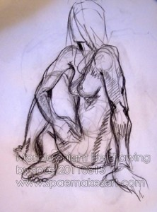 Monday night life drawing  - 20110815