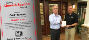Curt Above and Beyond Award-Dubuque